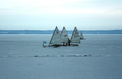 Bojery na Zalewie Wiślanym w Krynicy Morskiej