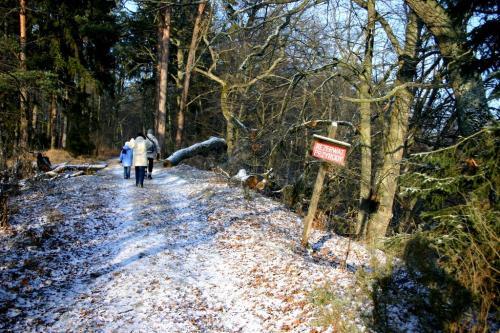 Wejście do rezerwatu - tablica