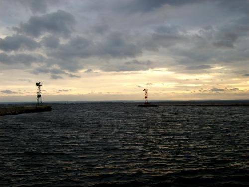 Jastarnia - wejście do portu